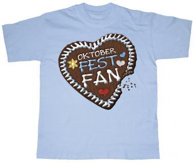 Kinder T-Shirt mit Motivdruck - Oktoberfest-Fan - 08282 hellblau - Gr. 74/80