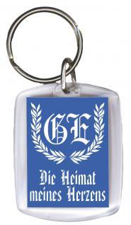 Schlüsselanhänger - Heimat meines Herzens - Gr. ca. 6x4cm - 13215 - Keyholder