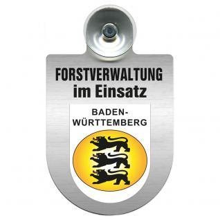 Einsatzschild für Windschutzscheibe incl. Saugnapf - Forstverwaltung im Einsatz - 309732-1 Region Baden-Württemberg