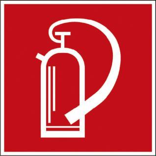 Hinweis- Alu- Schild - Brandschutzkennzeichen - Feuerlöscher - nach BGV A8, DIN 4844 und Arbeitsstättenverordnung 150 x 150 mm - K137/81