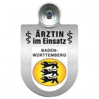 Einsatzschild Windschutzscheibe incl. Saugnapf - Ärztin im Einsatz - 309479-1 Region Baden-Württemberg