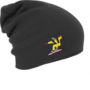 Longbeanie Slouch-Beanie Wintermütze Snowboarder gelb 54877