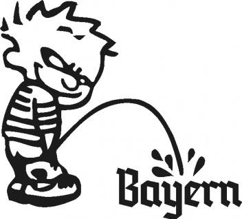 Aufkleber Applikation - Pinkelmänchen Bayern - 303626-1 - links - schwarz / 15cm