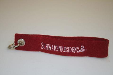 Filz-Schlüsselanhänger mit Stick - SCHWABENRESIDENZ - Gr. ca. 17x3cm - 14048