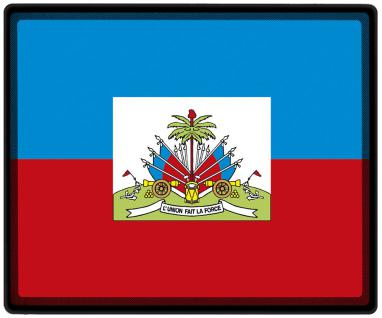 Mousepad Mauspad mit Motiv - Haiti Fahne Fußball Fußballschuhe - 82061 - Gr. ca. 24 x 20 cm