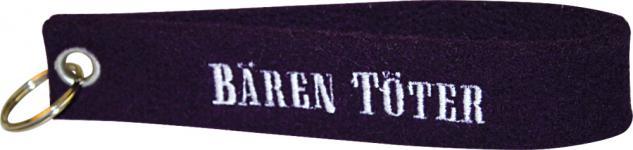 Filz-Schlüsselanhänger mit Stick Bären Töter Gr. ca. 19x3cm 14201 schwarz