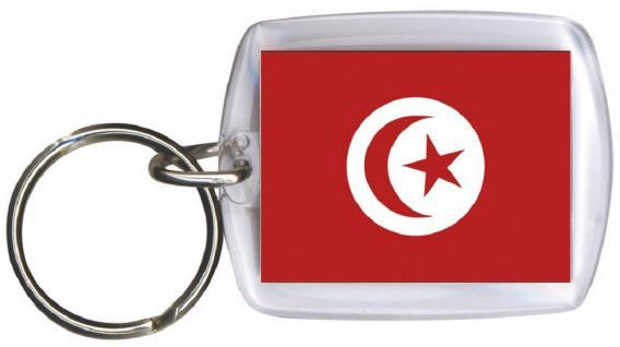Schlüsselanhänger Anhänger - TUNESIEN - Gr. ca. 4x5cm - 81173 - Keyholder WM Länder