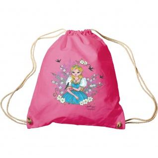 Trend-Bag Turnbeutel Prinzessin Blumenwiese 65084 Fuchsia