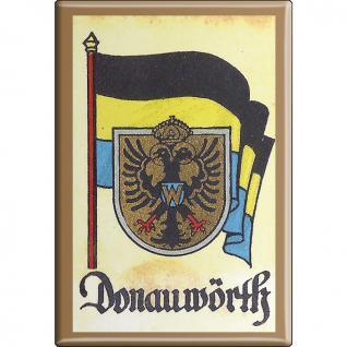 Küchenmagnet - Wappen Donauwörth - Gr. ca. 8 x 5, 5 cm - 37517 - Magnet Kühlschrankmagnet