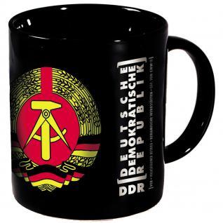 Tasse mit Rundumdruck DDR Ostalgie Emblem Abzeichen schwarz 57243 - Vorschau 2