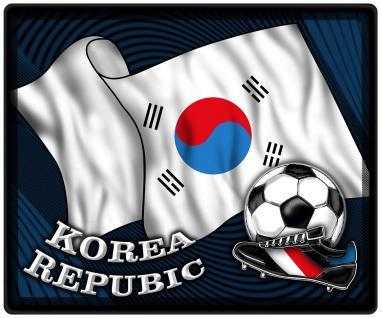 Mousepad Mauspad mit Motiv - Südkorea Fahne Fußball Fußballschuhe - 83138 - Gr. ca. 24 x 20 cm