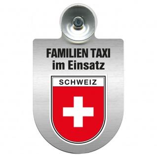 Einsatzschild Windschutzscheibe incl. Saugnapf - Familien Taxi im Einsatz - 309722 Region Schweiz