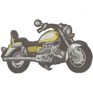 Rückenaufnäher- Bike - 08029 gelb - Gr. ca. 30 x 20 cm - Patches Stick Applikation