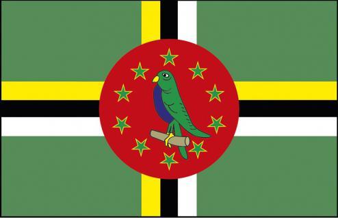 Auto-Fahne - Domenica - Gr. ca. 40x30cm - 78041 - Länderflagge mit Klemmstab, Fahne, Autoländerfahne