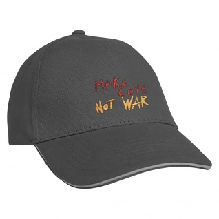 Baseballcap mit Einstickung Make Love not War 68272