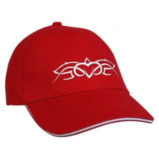 Baseballcap mit Einstickung Tribal 68351 rot