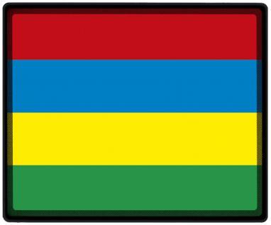 Mousepad Mauspad mit Motiv - Mauritius Fahne Fußball Fußballschuhe - 82105 - Gr. ca. 24 x 20 cm