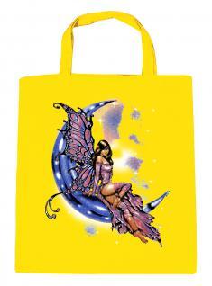 (U10899)Umweltfreundliche Baumwoll - Tasche , ca. 28 x 43 cm mit Aufdruck in 7 Farben gelb