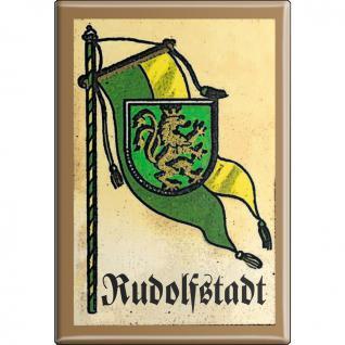 Küchenmagnet - Wappen Rudolfstadt - Gr. ca. 8 x 5, 5 cm - 37545 - Magnet Kühlschrankmagnet