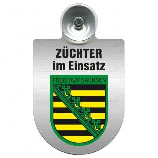 Einsatzschild Windschutzscheibe incl. Saugnapf - Züchter im Einsatz - 309384 Region Sachsen-Anhalt