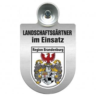 Einsatzschild Windschutzscheibe incl. Saugnapf -Landschaftsgärtner im Einsatz - 309375 - Region Brandenburg