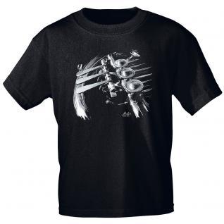 Designer T-Shirt - French Horn Valves - von ROCK YOU MUSIC SHIRTS - 10741 - Gr. M