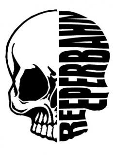 Aufkleber Applikation - Totenkopf - Reeperbahn - AP1703 - versch. Größen