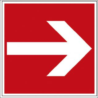 Hinweis- Alu- Schild - Brandschutzkennzeichen - Richtungsvorgabe - BGV A8, DIN 4844 und Arbeitsstättenverordnung 150 x 150 mm - K139/81