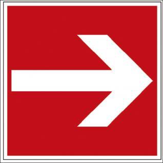 Hinweis- Alu- Schild - Brandschutzkennzeichen - Richtungsvorgabe - BGV A8, DIN 4844 und Arbeitsstättenverordnung 200 x 200 mm - 139/82