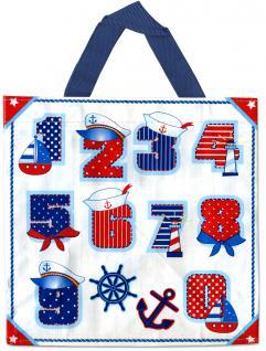 PP-Woven-Tasche - Zahlen Maritim - 26287 - Motivtasche Shopper Bag Tragetasche