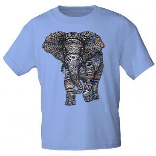 T-Shirt unisex mit Aufdruck - Elefant - 12992- versch. Farben zur Wahl - hellblau / S