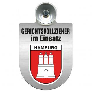 Einsatzschild Windschutzscheibe incl. Saugnapf - Gerichtsvollzieher im Einsatz - 309744-15 - Region Hamburg