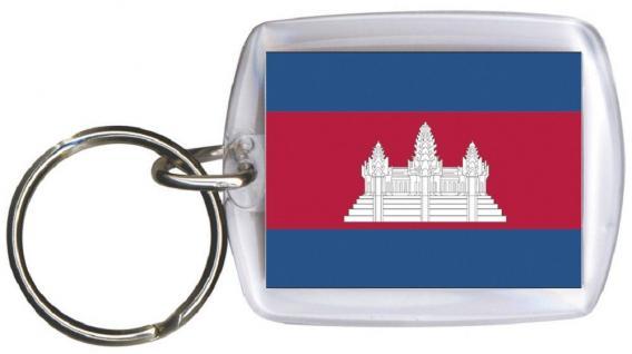 Schlüsselanhänger Keyholder - KAMBODSCHA - Gr. ca. 4x5cm - 81075 - WM Länder