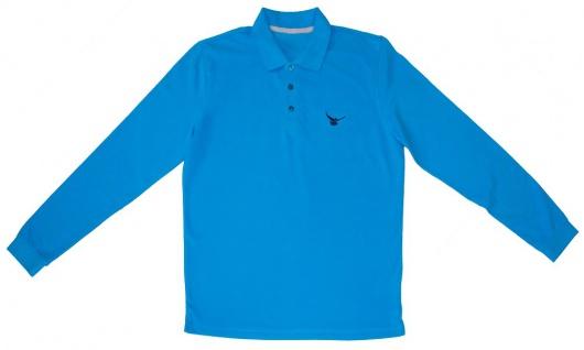 Langarm Polo-Shirt mit Einstickung - Taube - TB361 Gr. S-2XL