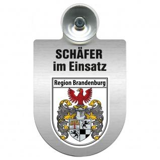 Einsatzschild Windschutzscheibe incl. Saugnapf - Schäfer im Einsatz - 309387 - Region Brandenburg
