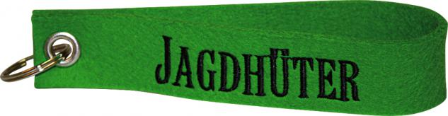 Filz-Schlüsselanhänger mit Stick Jagdhüter Gr. ca. 19x3cm 14357 grün