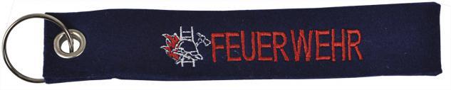 Filz-Schlüsselanhänger mit Stick Feuerwehr Gr. ca. 17x3cm 14053 schwarz
