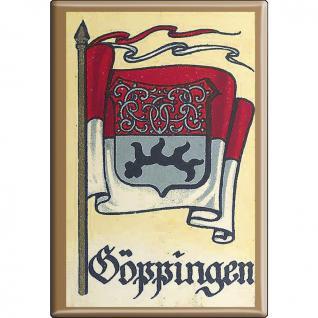 Küchenmagnet - Wappen Göppingen - Gr. ca. 8 x 5, 5 cm - 37526 - Magnet Kühlschrankmagnet