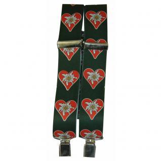Hosenträger mit Print - Herz mit Edelweiss - 06584-2