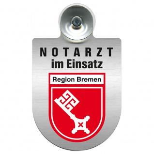 Einsatzschild Windschutzscheibe incl. Saugnapf - Notarzt im Einsatz - 309353 Region Bremen