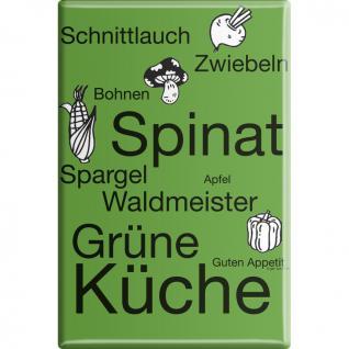 Kühlschrankmagnet - Spinat Grüne Küche - Gr. ca. 8 x 5, 5 cm - 38819 - Küchenmagnet