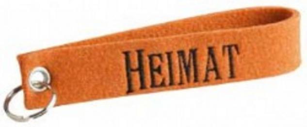 Filz-Schlüsselanhänger mit Stick - Heimat - Gr. ca. 17x3cm - 14244