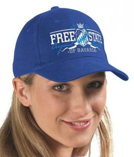 BW Cap Base-Cap Schirmmütze - Bayern - Wappen - FREE STATE BAVARIA - 68651 blau - Baseballcap Kappe Schirmmütze Baumwollkappe