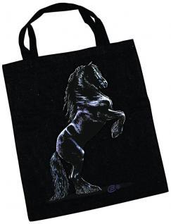 Baumwolltasche mit Pferdemotiv - STEIGENDER FRIESE - 08873 - Collection Bötzel