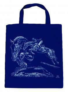 ©Kollektion Bötzel-Tasche - Pferde-Motiv - Springreiten - 08832 - Baumwolltasche Stofftasche