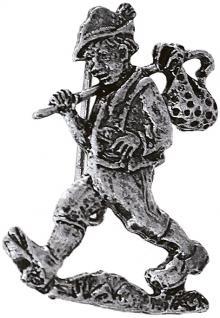 Anstecknadel Pin Brosche Button Metall - Wandern Wandersmann - 02678/1 - Gr. ca. 2, 8 x 3, 5 cm