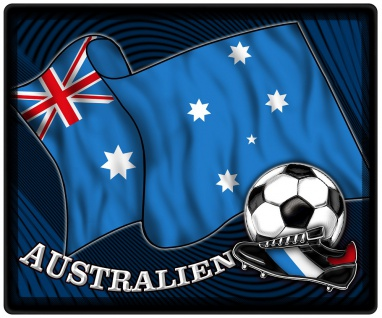 Mousepad Mauspad mit Motiv - Australien Fahne Fußball Fußballschuhe - 83018 - Gr. ca. 24 x 20 cm