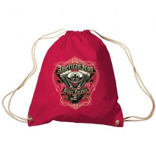 Sporttasche Turnbeutel Trend-Bag Print American Iron Biker Forever TB15701