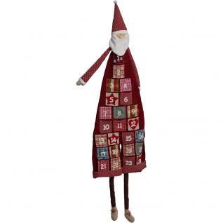 Adventskalender XXL GROSS Weihnachtsmann NIKOLAUS - 124cm x 35cm - 75681