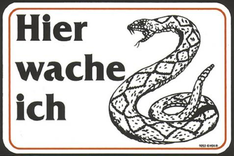 Warnschild - Hier wache ich - Schlange - 309053 - Gr. ca. 15 x 10 cm - Spaßschild Tiere - Vorschau